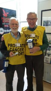 Brian and John collecting at Eurotunnel.