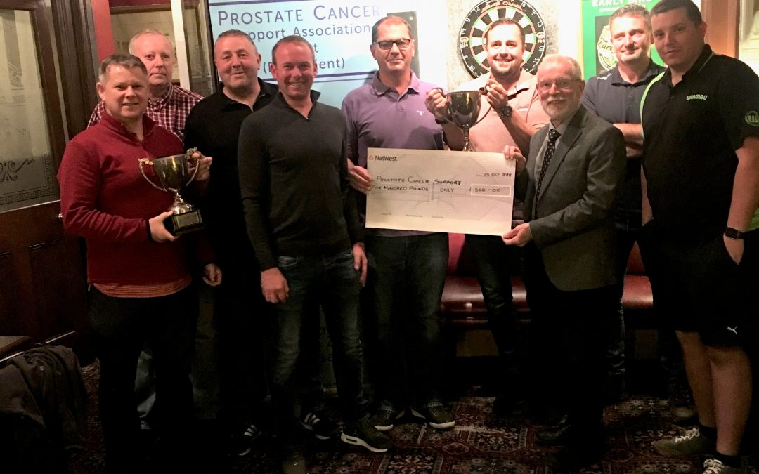 A welcome donation from Faversham Darts League