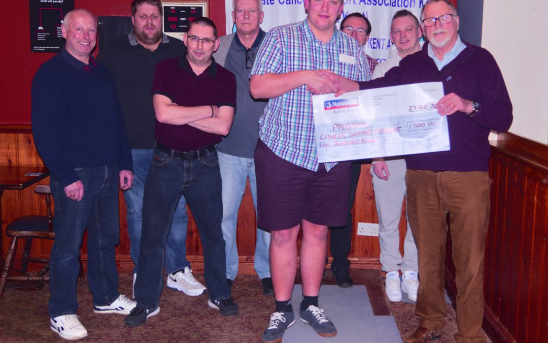 Donation from Darts League winners